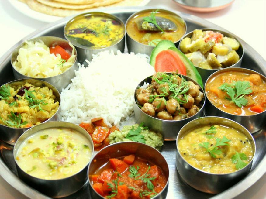 Vegetarian Thali At Jashan