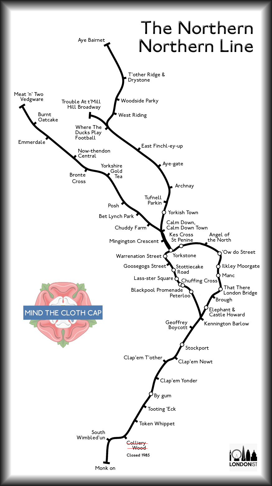 What The Northern Line Would Look Like If It Was Actually Northern