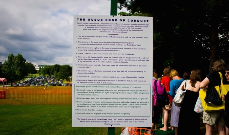 Plenty of rules around queuing and camping for Wimbledon Tennis Tournament Tickets.