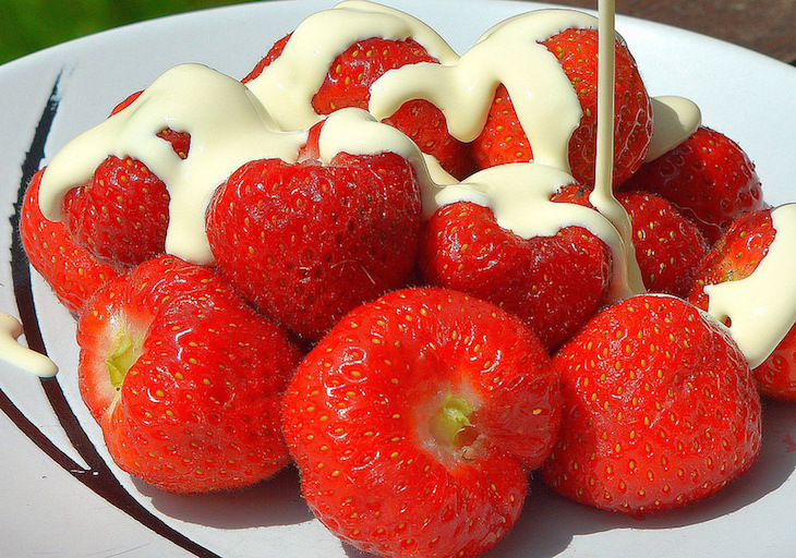 Strawberries and cream - a must if you're lucky enough to snag tickets to Wimbledon