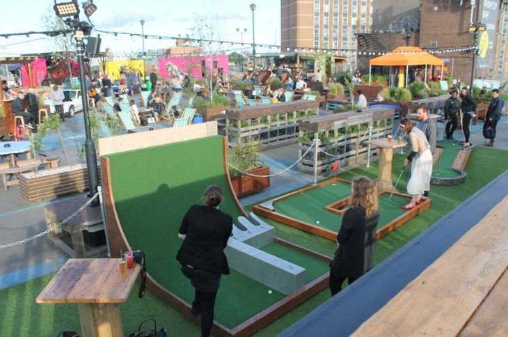 First Look Rooftop Golf In East London Londonist