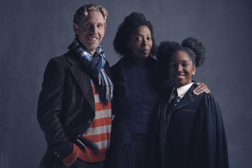 l-r Ron Weasley (Paul Thornley), Hermione Granger (Noma Dumezweni), Rose Granger-Weasley (Cherrelle Skeete)