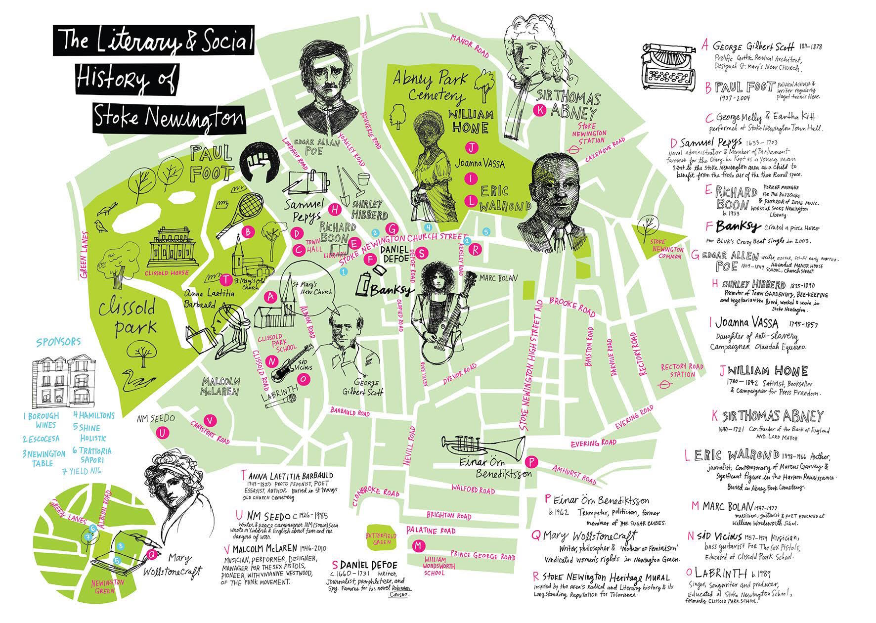 Stoke Newington Map Pepys And Banksy Feature In New Stoke Newington Map | Londonist