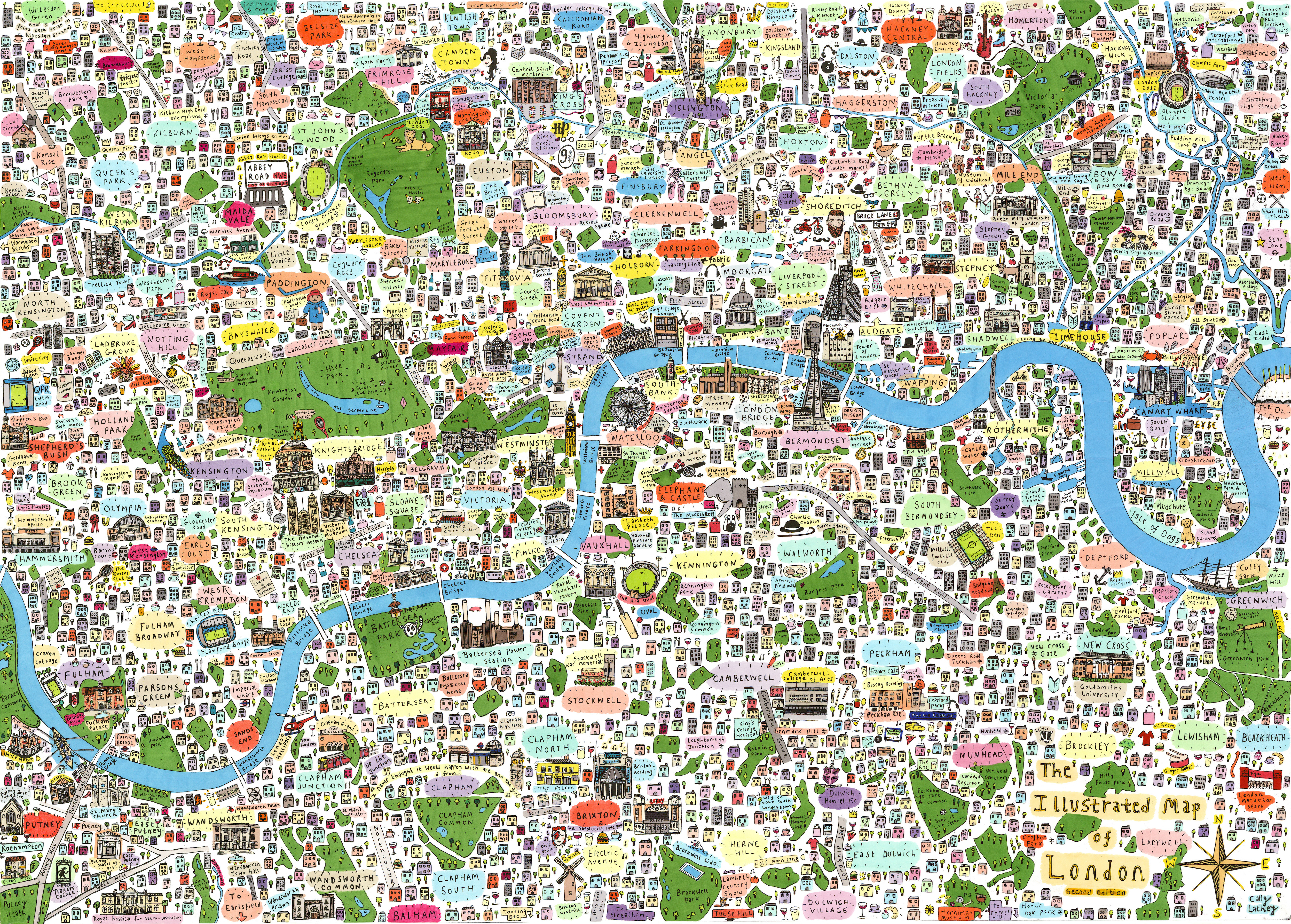 Maps Of London Spot Your Part Of Town On This Map Of London | Londonist Maps Of London