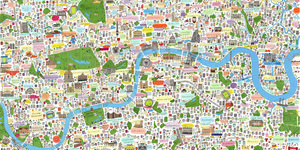 Spot Your Part Of Town On This Map Of London