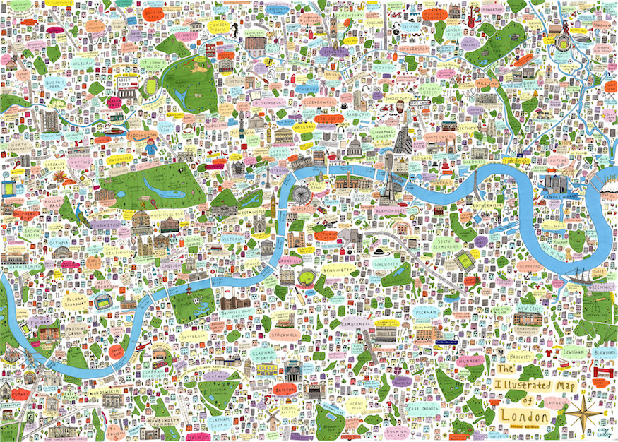 Can you spot your part of town on this stunning London map?