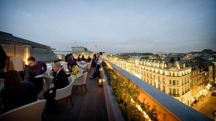 Best rooftop bars and beer gardens in central London: Aqua Spirit