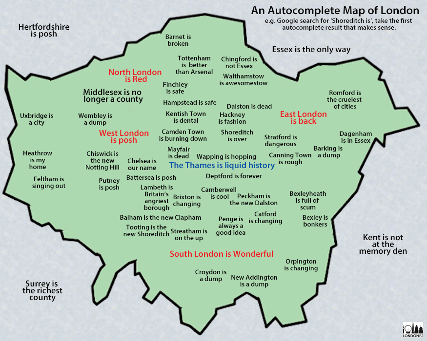 What Does Google Think Of Your Bit Of London Londonist