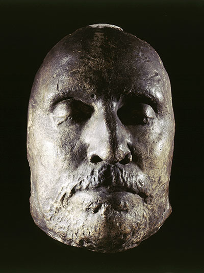 Oliver Cromwell death mask (Image: MoL)