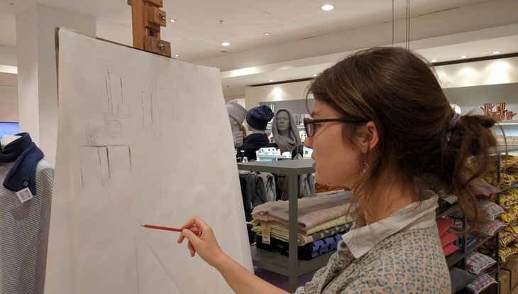 What It's Like Doing Still Life Drawing At Selfridges