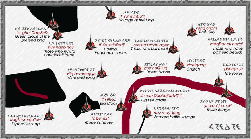 A Klingon map of London #startrek