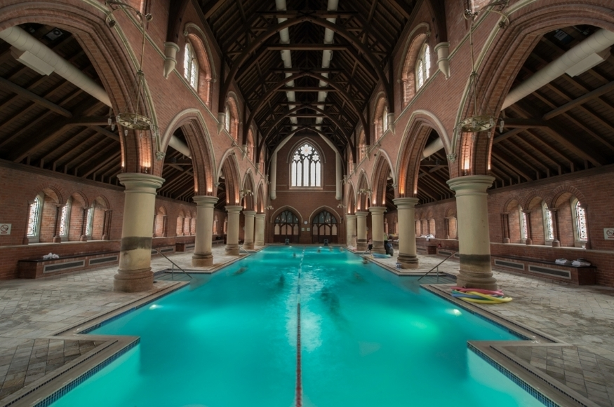 We went for a swim in an east London church