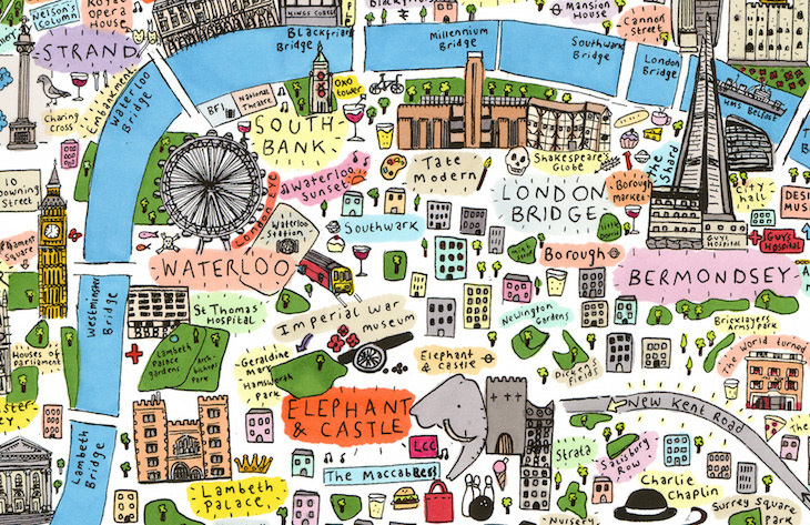 Spot Your Part Of Town On This Map Of London – Map Of London Tourist Sites