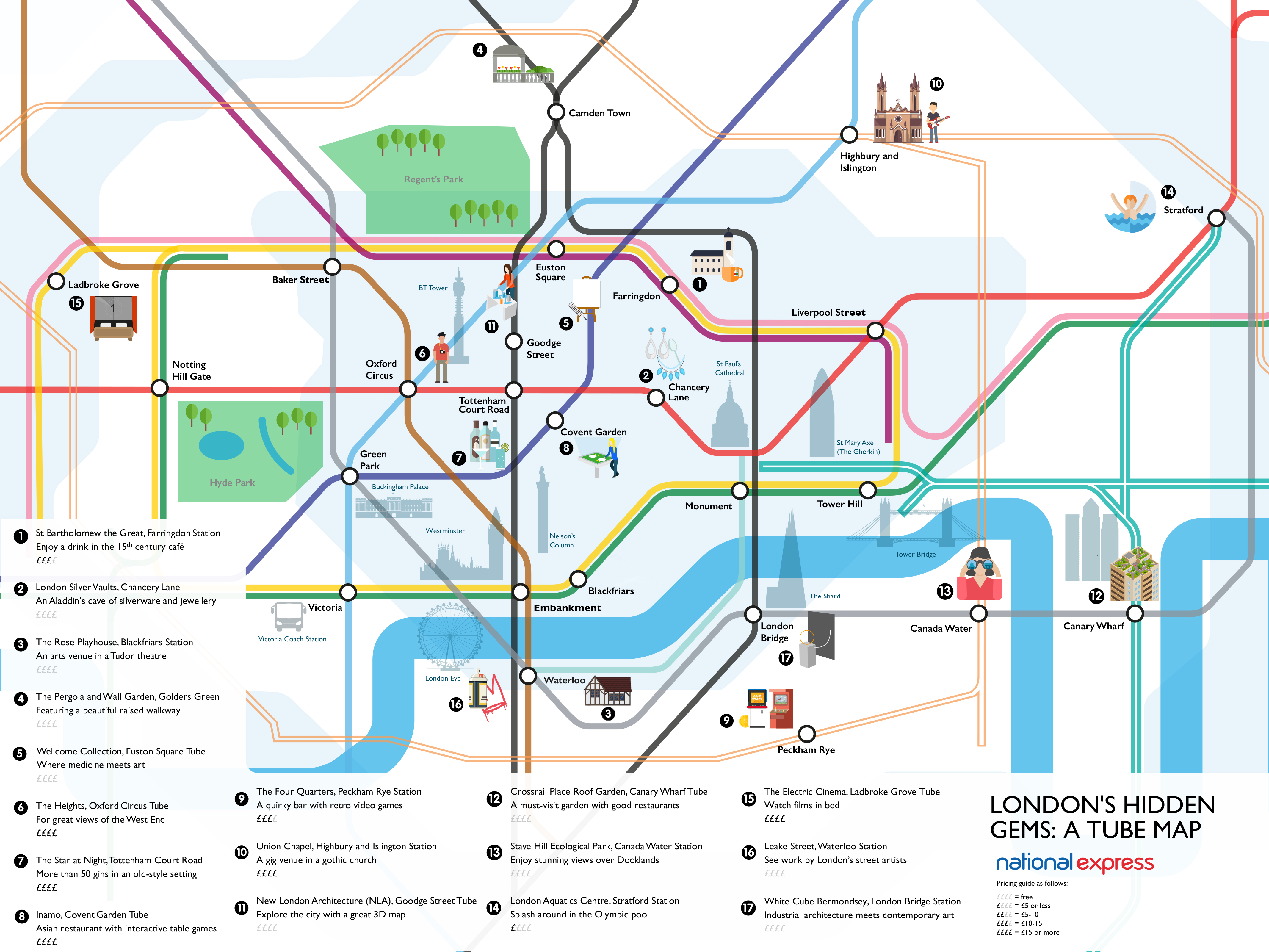 National Express Map London's Hidden Gems Revealed On A Tube Map | Londonist National Express Map