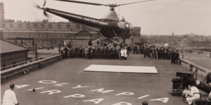 London's First Rooftop Helicopter Landing