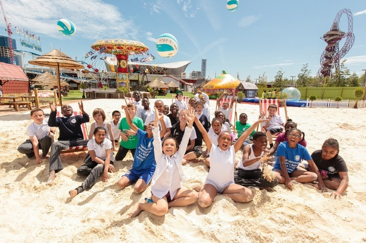 Play Volleyball And Cricket At The UK's Biggest Urban Beach
