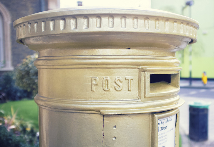 Tracking Down London's Gold Post Boxes