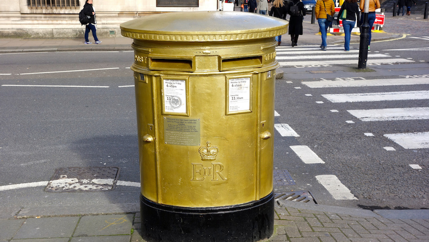 A Map Of London's Golden Post Boxes