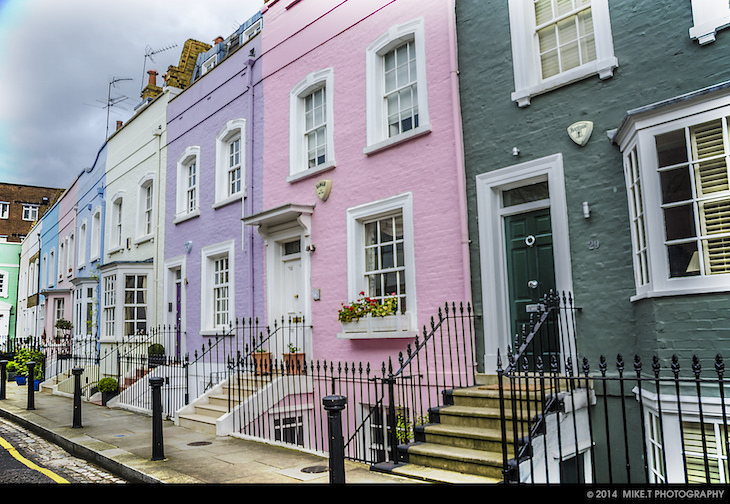 Image result for notting hill row of houses pastel