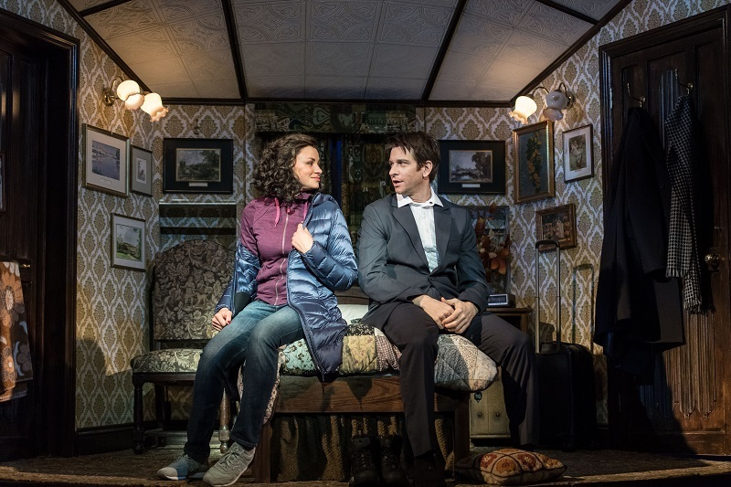 Andy Karl (Phil Connors) and Carlyss Peer (Rita Hanson) in Groundhog Day at The Old Vic.