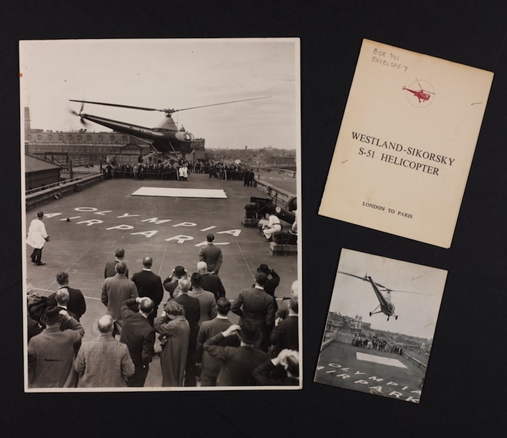 The first rooftop landing of a helicopter in London...