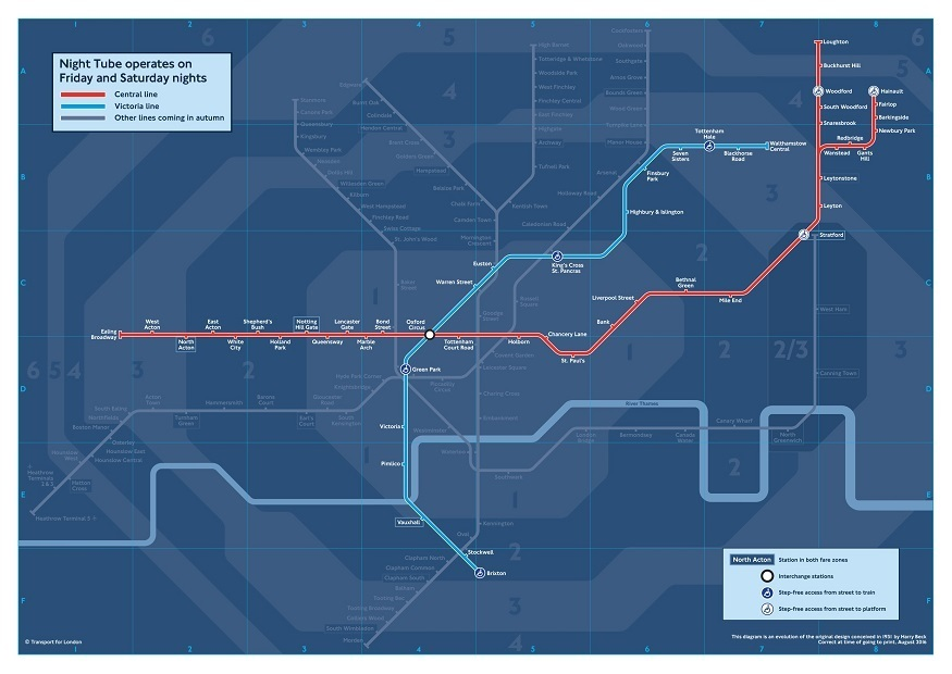Exclusive: First Look At The New Night Tube Map