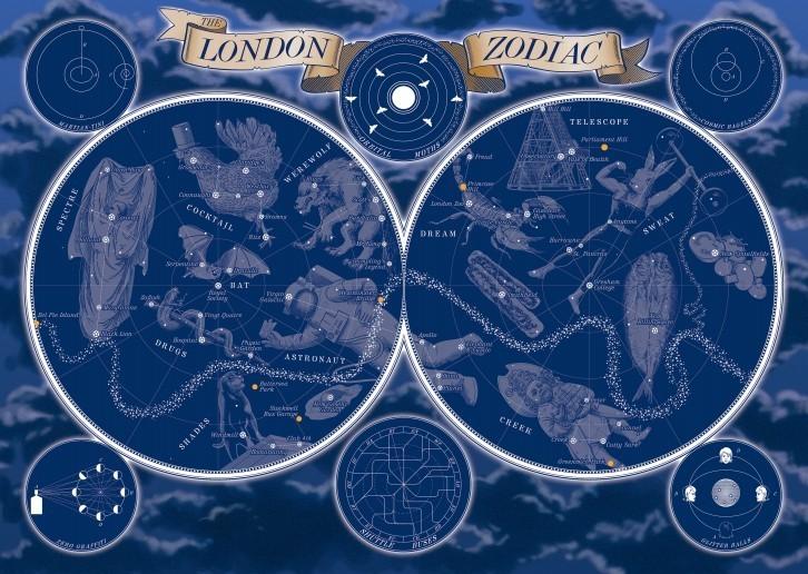 A Map Of The London Zodiac