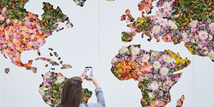 See A World Map Made From 2,000 Flowers