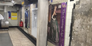 Old posters revealed at Moorgate tube