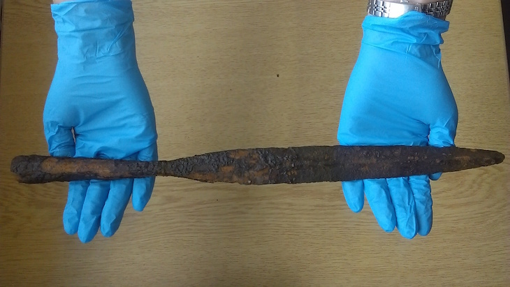 Unusual items found in the Thames, like this Anglo Saxon spearhead