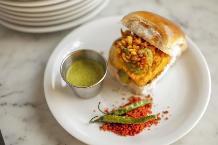 Best vegetarian burgers in London: Dishoom's vada pau