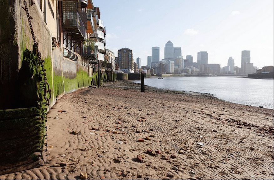 The River Thames in London, home to many an unusual, abandoned object