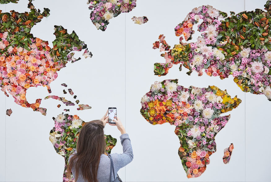 Roses, Lavender And Mint Used In New Heathrow Map