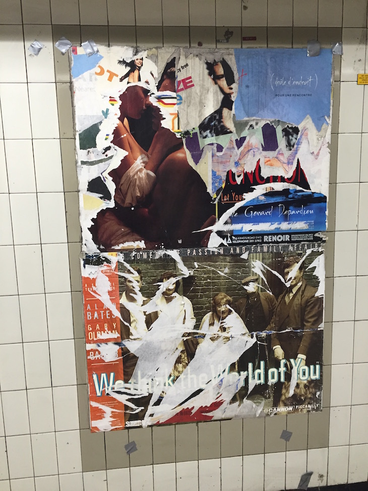 1980s Posters Appear At Moorgate