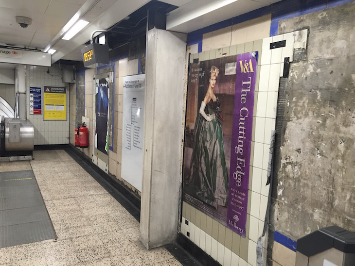 Old Posters From 1997 Revealed In Moorgate Tube