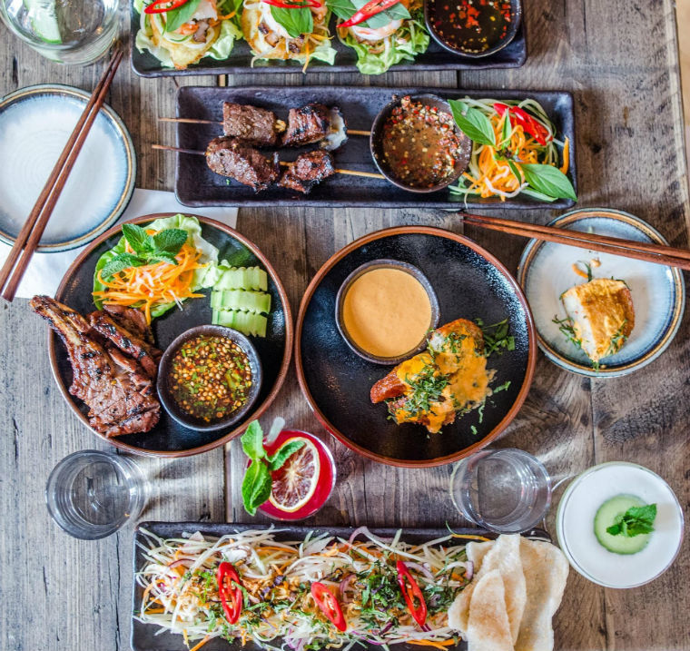 A Feast Of Colourful Dishes At Coba Photo By Nic Crilly Hargrave