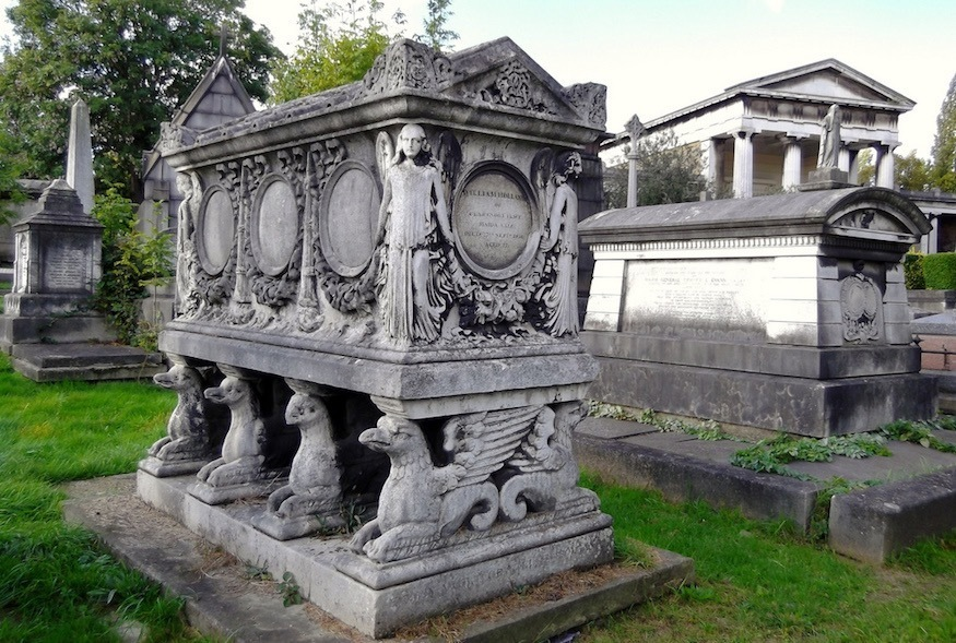Little-known trivia about Kensal Green Cemetery, including the royalty buried there