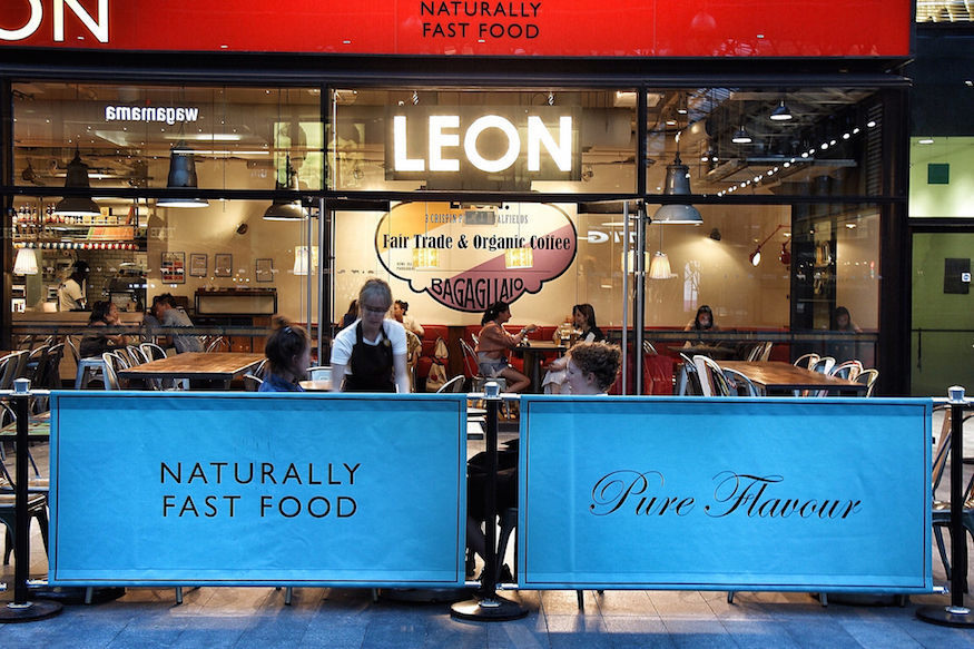 Where was the first Pret, EAT, McDonald's or Leon in London?