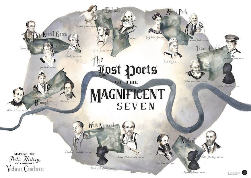 Mapped: Where London's Lost Poets Are Buried