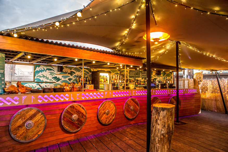 There's A Viking Themed Rooftop Bar In East London