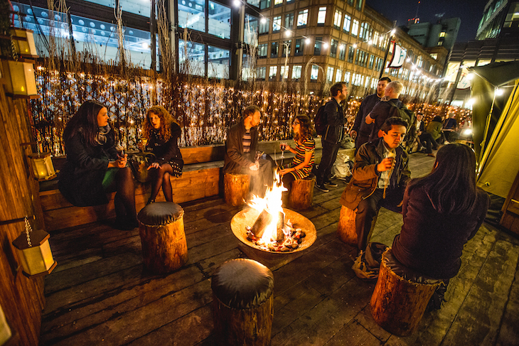 Queen Of Hoxton's Winter Rooftop Has A Viking Theme