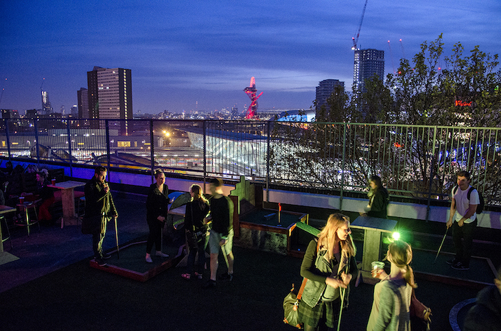 Roof East in Stratford: best Christmas and winter pop-ups in London.
