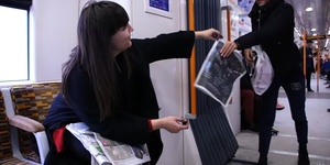 Video: The Compulsive Artist Who Hands Out Her Work On The Train