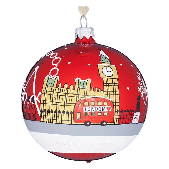 tourism london sky glass hanging decoration