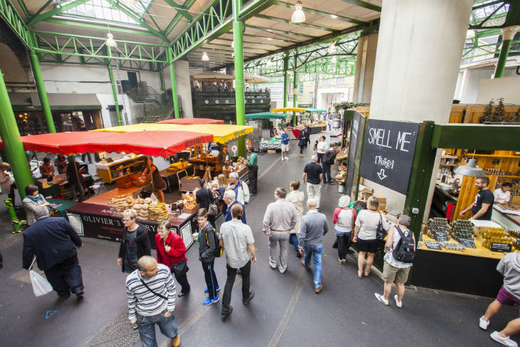 Borough Market, a great place to grab a bite to eat on Mother's Day