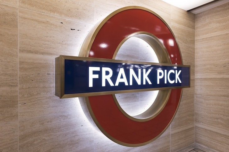 Frank Pick Roundel Unveiled At Piccadilly Circus