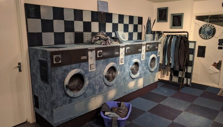 An Entire Launderette Made From Denim
