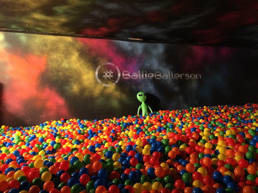 London has an adult ball pit. So we jumped right in, obviously