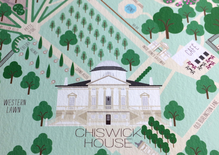 We love this design map of Chiswick House and Gardens