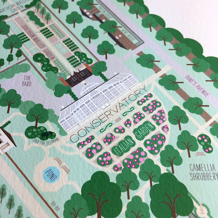 Treat yourself to this limited edition map of Chiswick House and Gardens